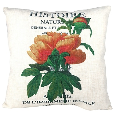 Pal Fabric French Classic Histoire Flower Throw Pillow