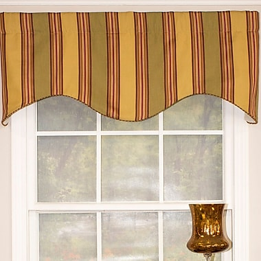 RLF Home Urban Stripe Cornice 50'' Window Valance