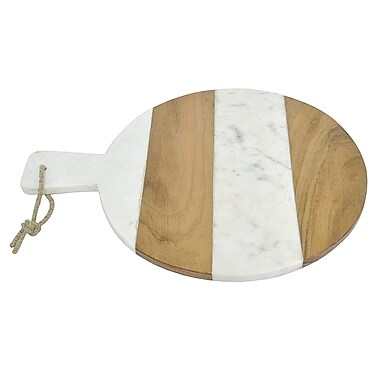 Three Hands Co. Marble and Wood Cheese Board and Platter