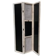 WholeHouseWorlds 70.9'' x 47.2'' Americana Old Village 1886 3 Panel Room Divider