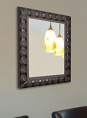 Astoria Grand Rectangle Mahogany Classic Feathered Wall Mirror; 34.5'' H x 28.5'' W x 1.75'' D