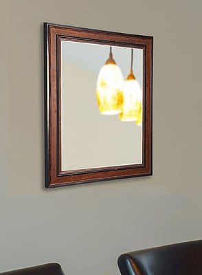 Darby Home Co Countryside Pine Wall Mirror; 31'' H x 25'' W x 0.75'' D