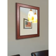 Darby Home Co Rectangle Walnut Timber Estate Accent Mirror; 36 '' H x 24'' W
