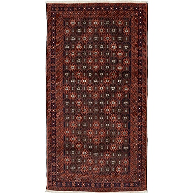 ECARPETGALLERY Finest Baluch Wool Hand-Knotted Brown/Copper Area Rug