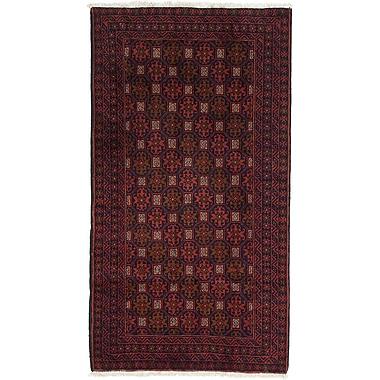 ECARPETGALLERY Finest Baluch Wool Hand-Knotted Dark Copper Area Rug