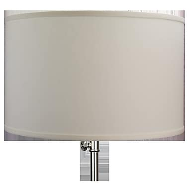 Fenchel Shades 18'' Linen Drum Lamp Shade; White