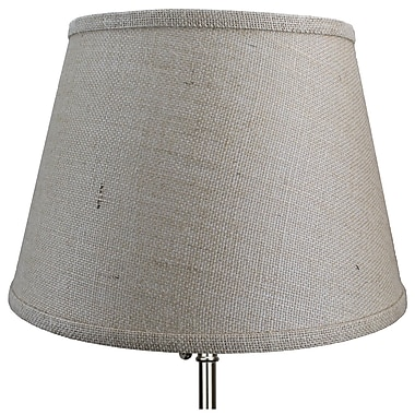 Fenchel Shades 13'' Linen Empire Lamp Shade; Off White