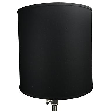 Fenchel Shades 18'' Linen Drum Lamp Shade; Black