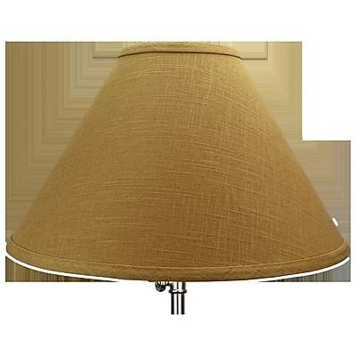 Fenchel Shades 15'' Linen Empire Lamp Shade; White