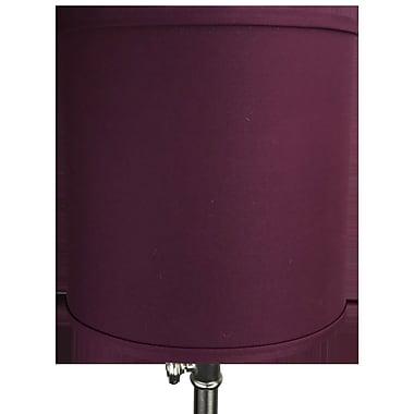 Fenchel Shades 10'' Linen Drum Lamp Shade; Burgundy