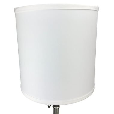 Fenchel Shades 10'' Linen Drum Lamp Shade; White