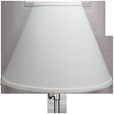 Fenchel Shades 12'' Linen Empire Lamp Shade; White