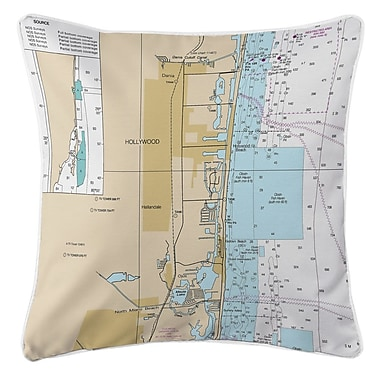 Island Girl Home Hollywood, FL Throw Pillow