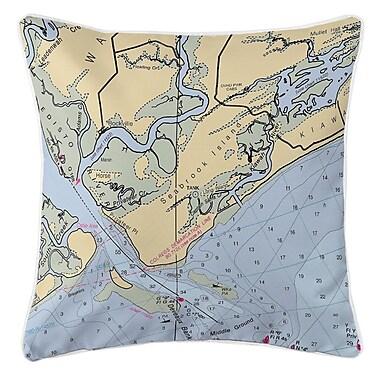 Island Girl Home Seabrook Island, SC Throw Pillow