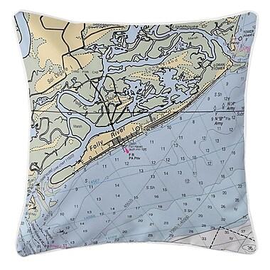 Island Girl Home Folly Island, SC Throw Pillow