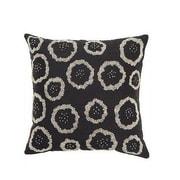 Arcadia Home Design Inc. Silk Throw Pillow Cover; Black