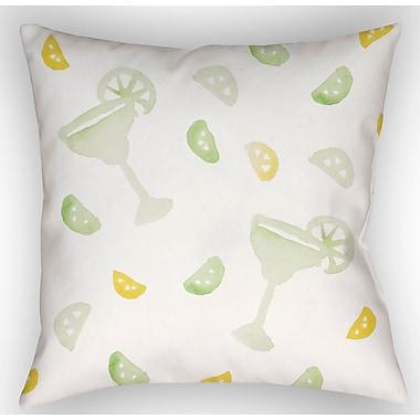Latitude Run Tisha Margarita Indoor/Outdoor Throw Pillow; 20'' H x 20'' W x 4'' D