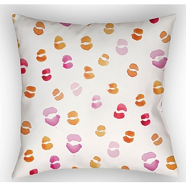 Latitude Run Trina Lips Indoor/Outdoor Throw Pillow; 18'' H x 18'' W x 4'' D