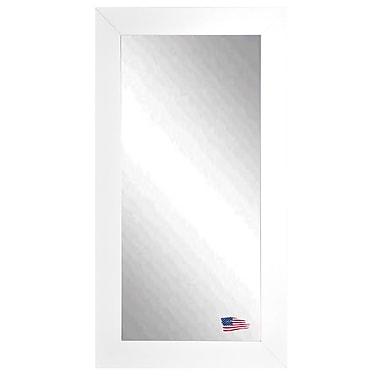 Latitude Run Rectangle Satin White Wide Tall Wall Mirror