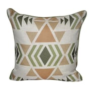 Loom and Mill SW Diamond Printed Throw Pillow; Green