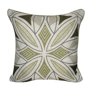 Loom and Mill Phoenix Printed Throw Pillow; Green