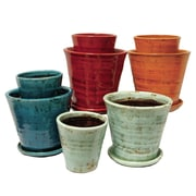 Selectives 4 Piece Ceramic Pot Planter Set (Set of 2)