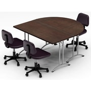 Team Tables Meeting Seminar 2 Piece Combo 5  Half-Round Conference Table; Java