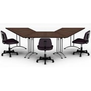 Team Tables Meeting Seminar 3 Piece Combo 10' Angled Conference Table; Java