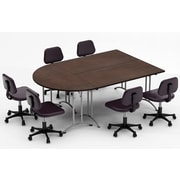 Team Tables Meeting Seminar 3 Piece Combo 7.5' Half-Round Conference Table; Java