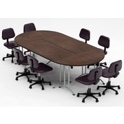 Team Tables Meeting Seminar 4 Piece Combo 10' Oval Conference Table; Java