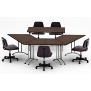Team Tables Meeting Seminar 4 Piece Combo 10' Angled Conference Table; Java