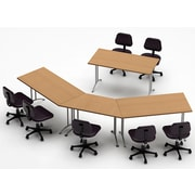 Team Tables Meeting Seminar 4 Piece Combo 12.5' Conference Table; Natural Beech