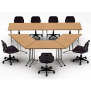 Team Tables Meeting Seminar 5 Piece Combo 10' Conference Table; Natural Beech