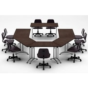 Team Tables Meeting Seminar 6 Piece Combo 15' Conference Table; Java