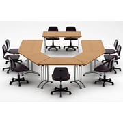 Team Tables Meeting Seminar 6 Piece Combo 15' Conference Table; Natural Beech
