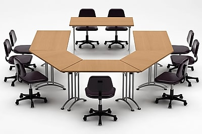 Team Tables Meeting Seminar 6 Piece Half-Round 30''H x 120''W x 180''L Conference Table Set