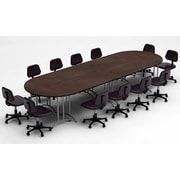Team Tables Meeting Seminar 6 Piece Combo 15' Oval Conference Table; Java