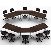 Team Tables Meeting Seminar 6 Piece Combo 12.5' Conference Table; Java