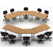 Team Tables Meeting Seminar 6 Piece Combo 12.5' Conference Table; Natural Beech