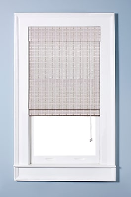 Top Blinds Oriental Semi-Sheer White Washed Roman Shade; 22'' W x 54'' L