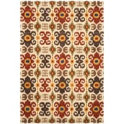 Bloomsbury Market Dorthy Ivory/Red Contemporary Rug; 7'6'' x 9'6''