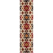 Bloomsbury Market Dorthy Ivory/Red Contemporary Rug; Runner 2'6'' x 8'