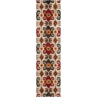 Bloomsbury Market Dorthy Ivory/Red Contemporary Rug; Runner 2'6'' x 10'
