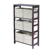 Winsome Capri 6 Drawers Storage Shelf; Beige