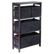 Winsome Capri 6 Drawers Storage Shelf; Black