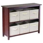 Winsome Verona 6 Drawers Low Storage Shelf w/ Foldable; Beige
