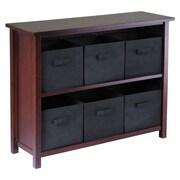 Winsome Verona 6 Drawers Low Storage Shelf w/ Foldable; Black