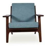 Ashcroft Imports Marley Arm Chair; Turquoise