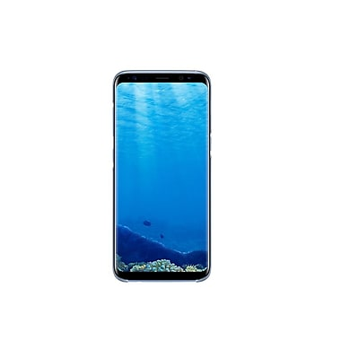 Samsung Clear Cover Bumper Case for Galaxy S8+, Blue (EF-QG955CLEGCA)