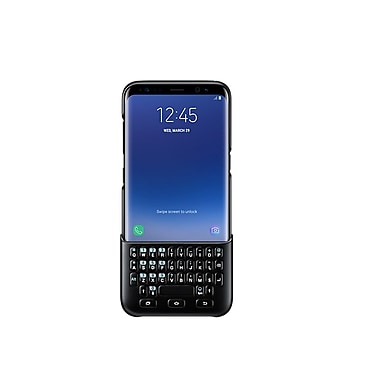 Samsung Keyboard Cover Bumper Case for Galaxy S8+, Black (EJ-CG955BBEGCA)